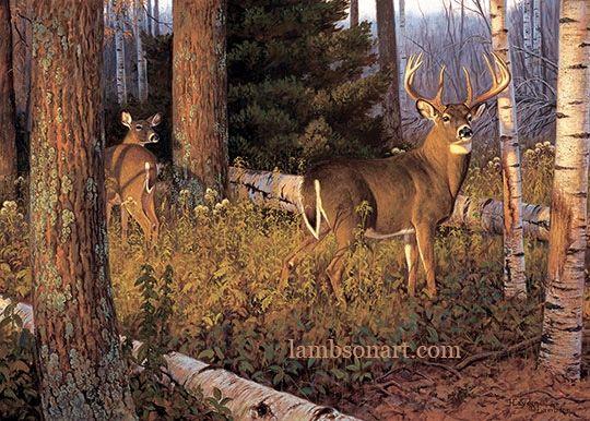 October Ritual Deer Artwork Deer Painting Wildlife Paintings