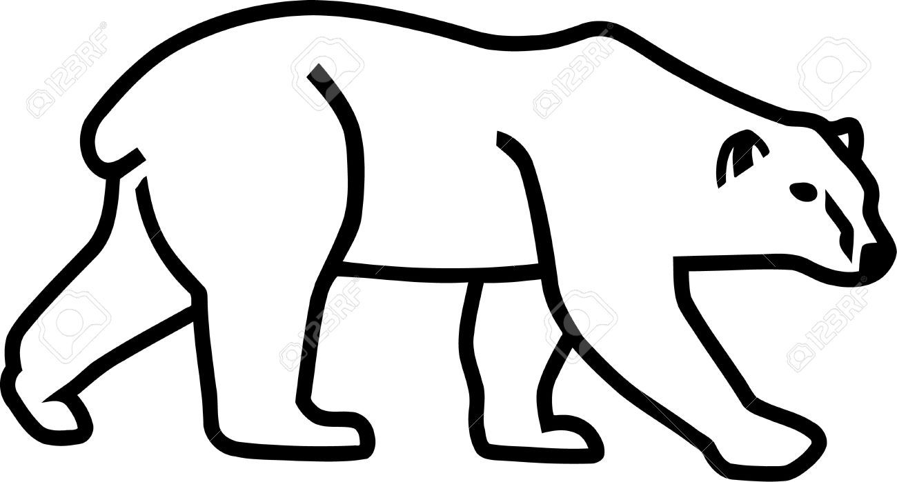 Bear outline. Stock vector sewing projects