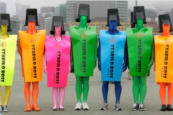 Stabilo-Stifte Kostüm #déguisementsdhalloweenfaitsmain