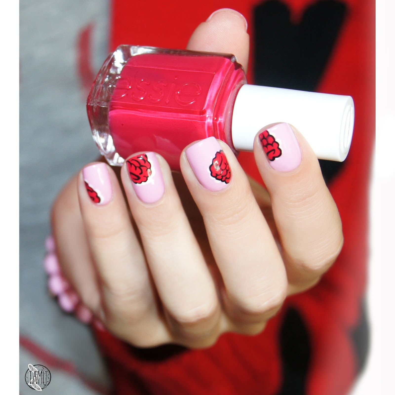 Raspberry nails: tutorial. (With images) | Raspberry nails ...