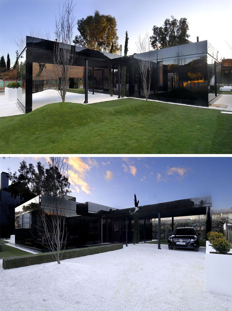 examples of modern houses with black exteriors modern