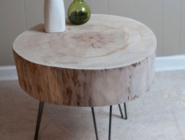 Table En Rondin De Bois Un Tronc Peut En Cache Un Autre En 2020 Deco Bois Mobilier De Salon Idee Deco Bois