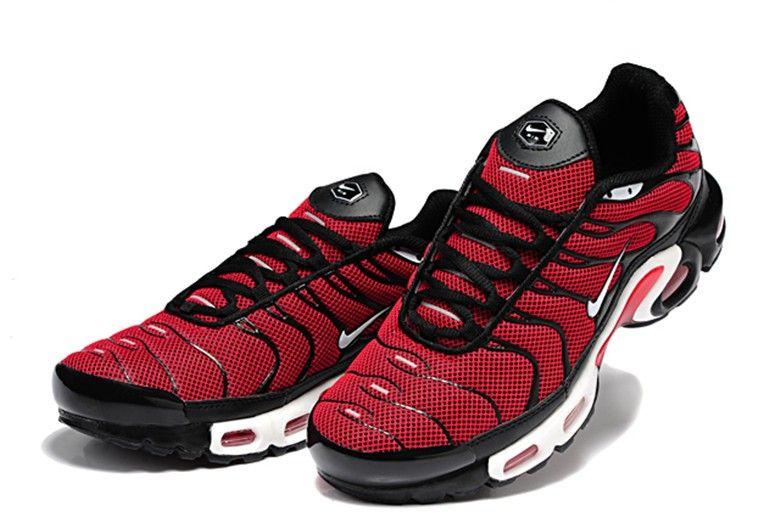 62f77b0067ad Nike Performance Air Max Plus TN Running Shoes Red Black White ...