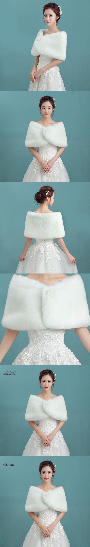 Hot Sale 2018 Cheap Fashion Wedding Jacket Bride Wraps Winter ...