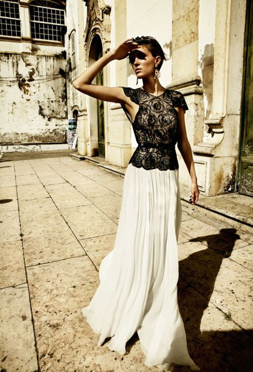 0710492d67 beautiful white maxi skirt and black lace