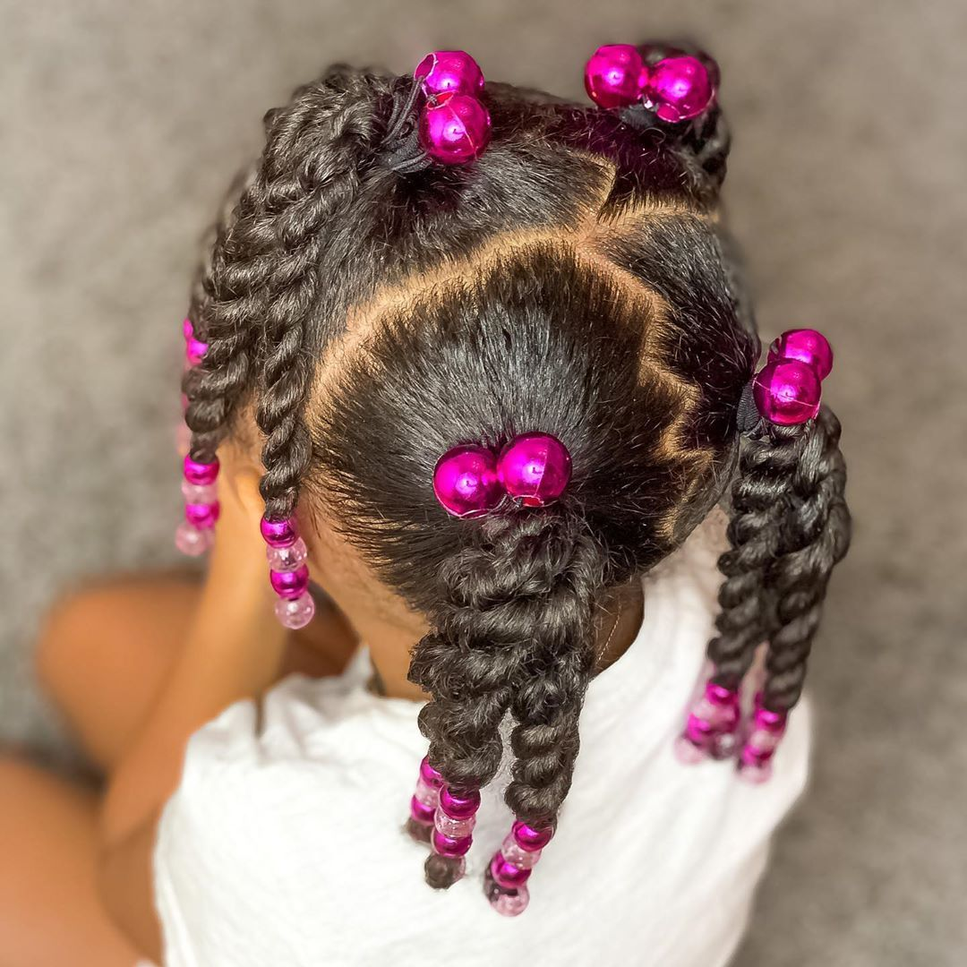 Grand Collection Of Braids With Beads For Little Girls Curly Craze Lil Girl Hairstyles Black Kids Hairstyles Natural Hairstyles For Kids