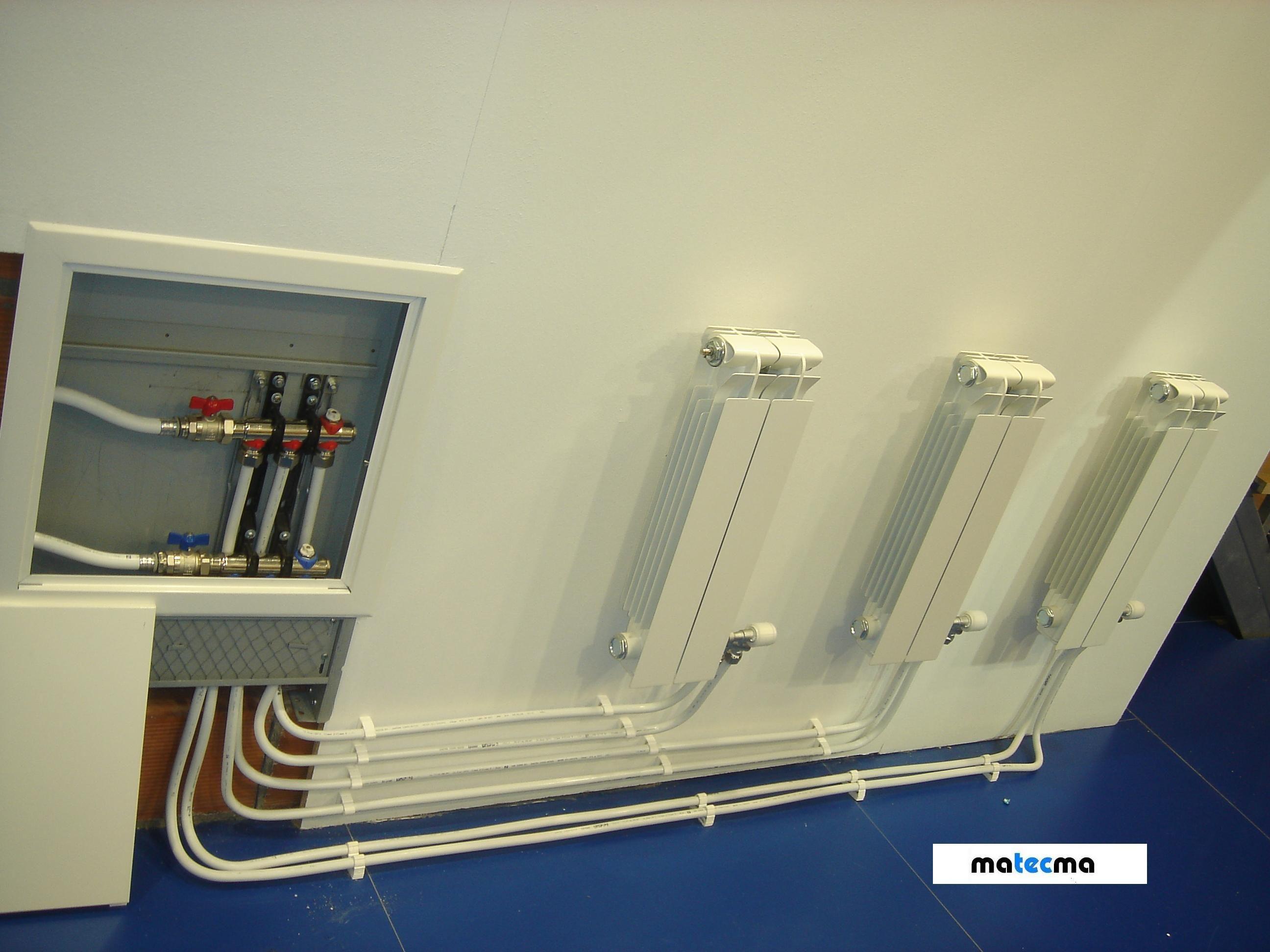 Ejemplo De Una Instalacion De Radiadores Con Colector Empotrado En Pared Instalacion Radiadores Servicio Tecnico