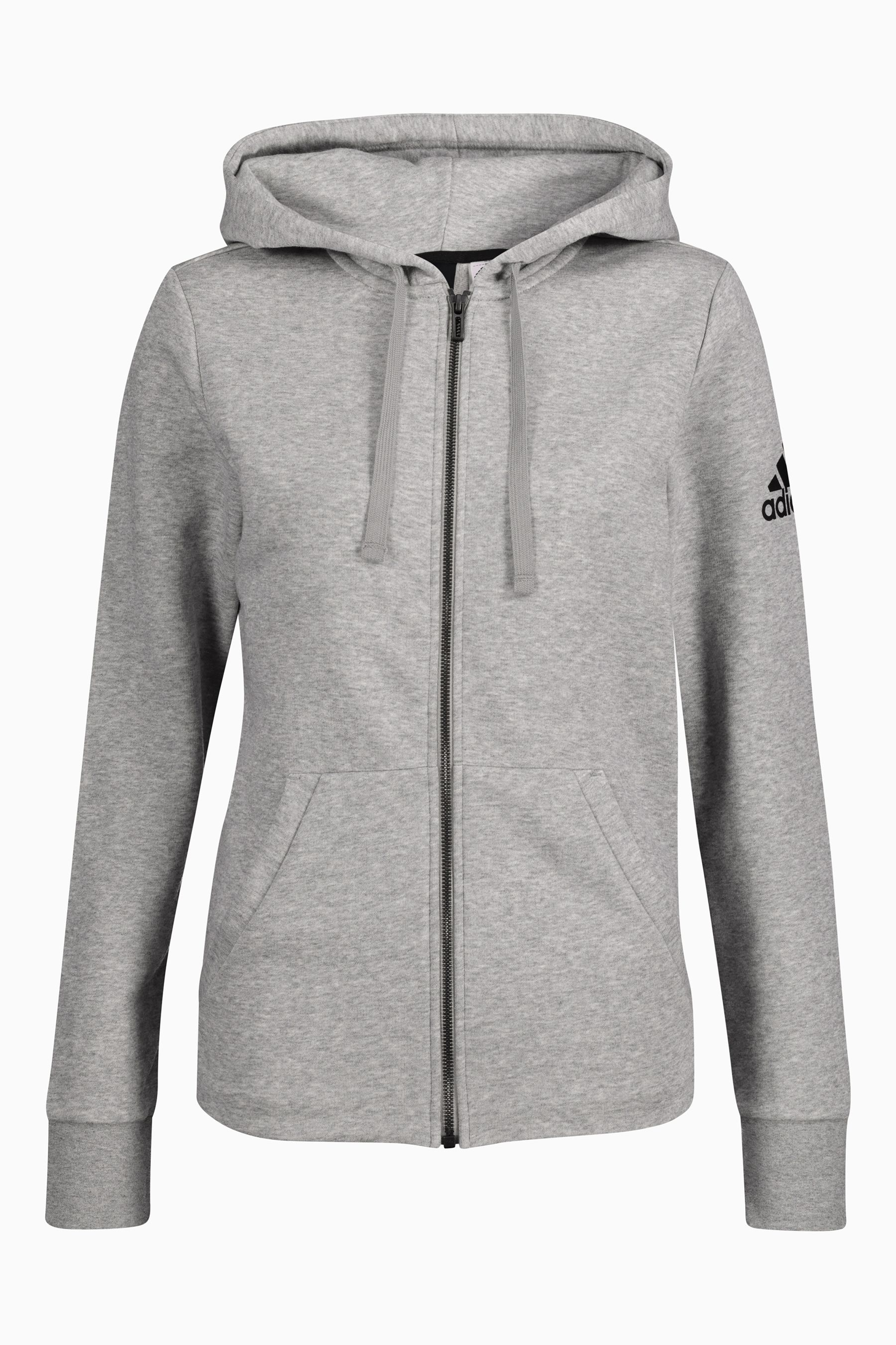 Womens adidas Grey Essential Solid Full Zip Hoody Grey