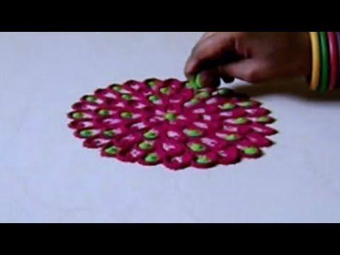 Making Rangoli Design Beautiful Art Step By Step Tutorial Easy