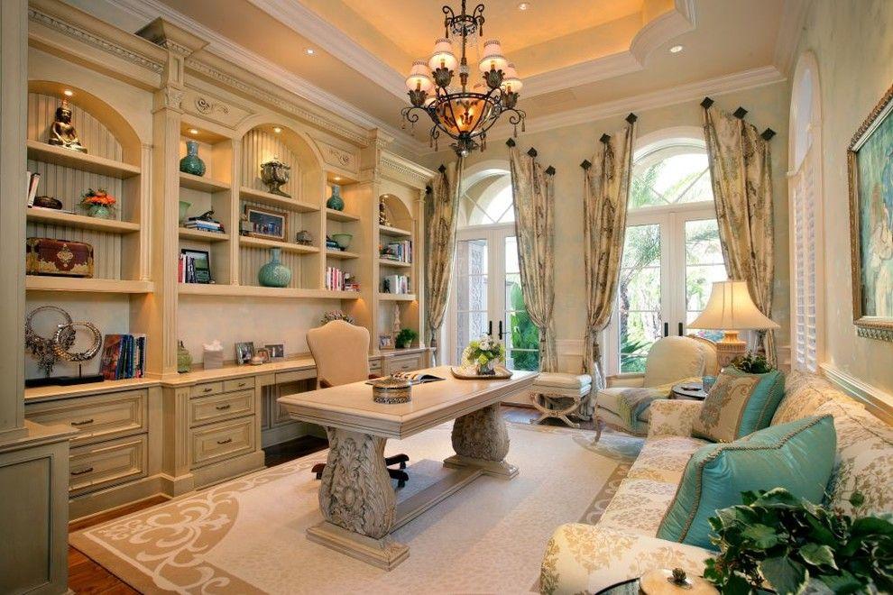 Papasan Cushions Home Office Mediterranean With Arch Niches Area Rug Area  Rugu2026
