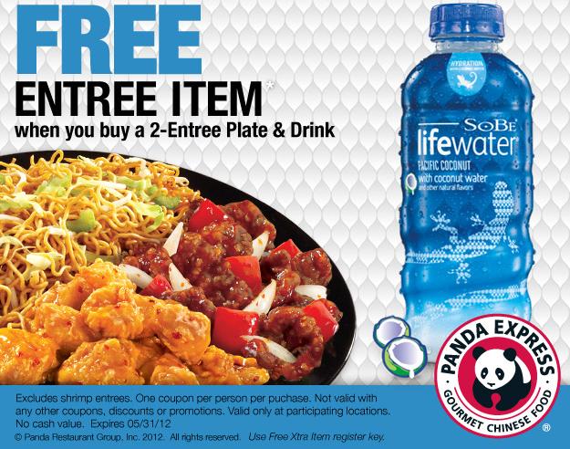 Free Entree Item With Purchase At Panda Express Coupon Panda Express Entrees Food
