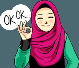 Latest Funny Emoji  Hijab Raihana – LINE stickers   LINE STORE 6