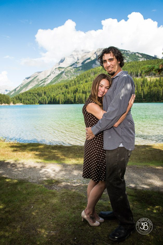 Love when we get lucky and have warm days in September! We had a chance to photograph this lovely couple at Two Jack Lake in Banff National Park! The 38 Photography - Engagement Photography