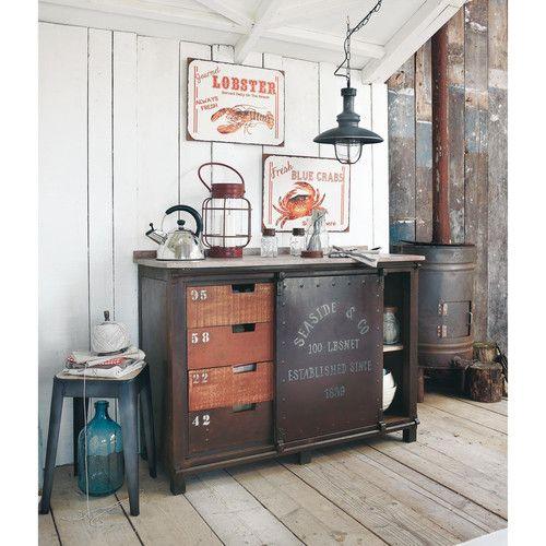 anrichte im industry stil aus metall mit rosteffekt b 120 cm m bel pinterest metall stil. Black Bedroom Furniture Sets. Home Design Ideas