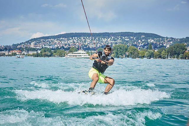 Thrillseeker!   #Wakeboarding #LakeZurich #VisitZurich #inLOVEwithSWITZERLAND @myswitzerlandlive