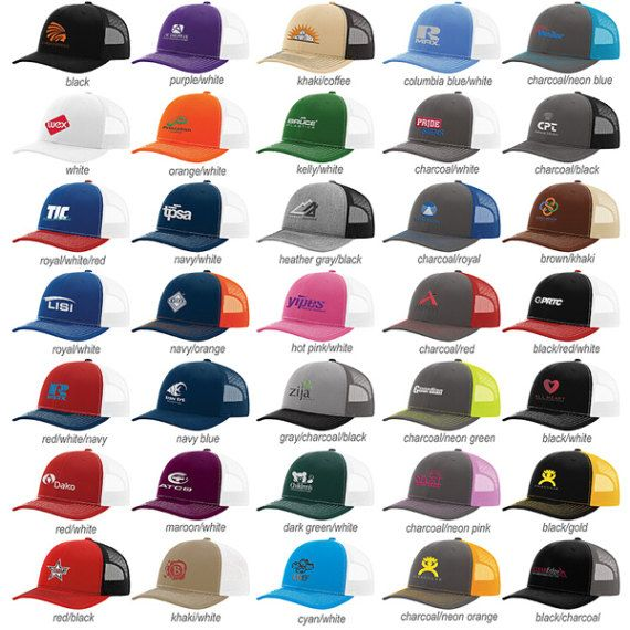 5023289e4 Richardson 112 Snap Back Truckers Mesh Custom Embroidered Hat | sew ...