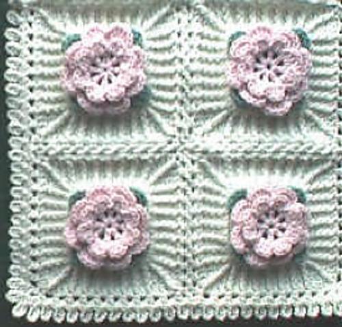 Delicate Irish Rose Comforter Pattern By Priscilla Hewitt