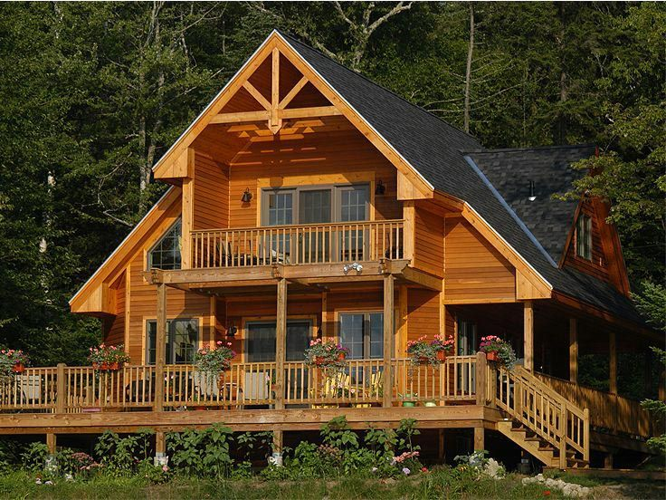 Contemporary Style House Plan 76012 with 3 Bed, 2 Bath   Cabin ...