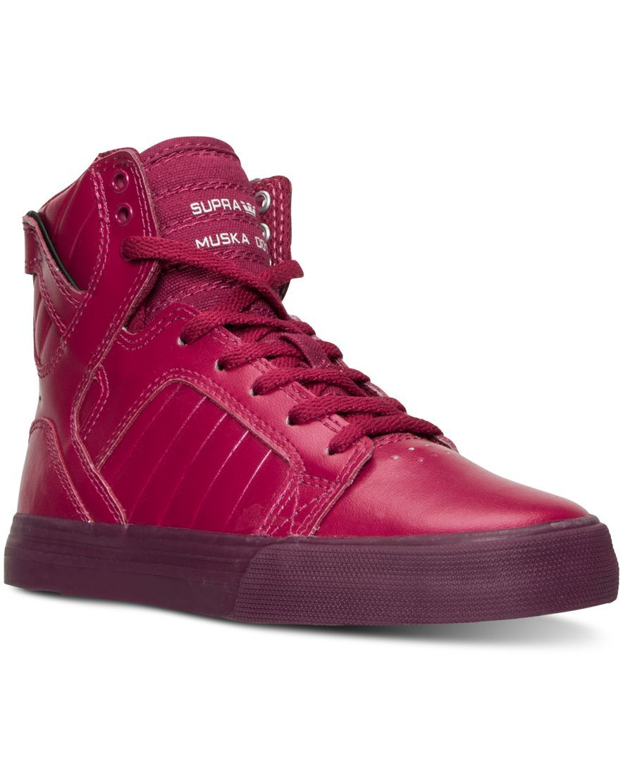 Supra Girls' Skytop Metallic High-Top Casual Sneakers from Finish Line