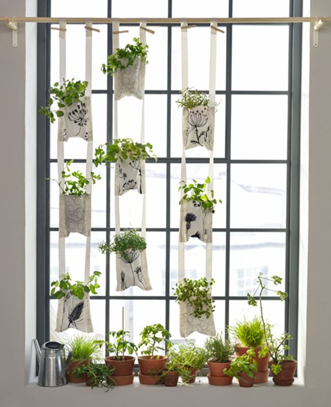 plantes suspendues un diy ikea pour faire une jardini re murale rideaux pinterest. Black Bedroom Furniture Sets. Home Design Ideas