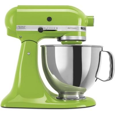 Kitchenaid Artisan 5 Qt 10 Speed Green Apple Stand Mixer With Flat Beater 6 Wire Whip And Dough Hook Attachments Ksm150psga Artilugios De