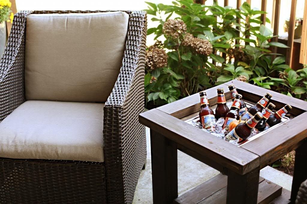 Side Table With Built In Drink Cooler, Bower Power Blog