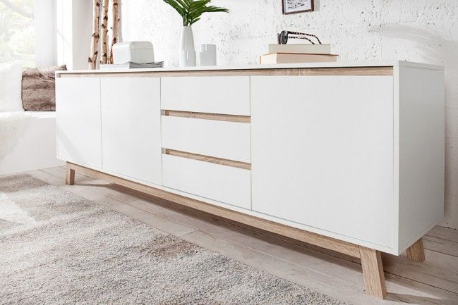 modernes design sideboard stockholm 200cm wei wendbare. Black Bedroom Furniture Sets. Home Design Ideas