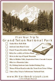 Grand Teton National Park Trip Planner Must See Things To See - Top 10 things to see in yellowstone national park