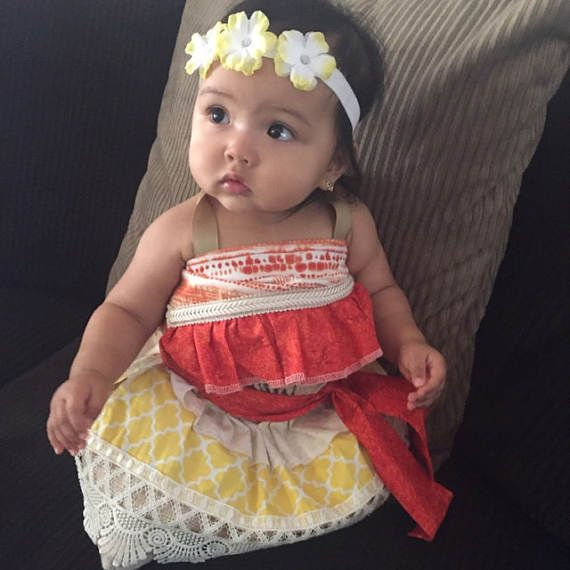 cf739c173b5a2 Moana Inspired Costume Hawaiian Princess Costume Moana | Birthday ...