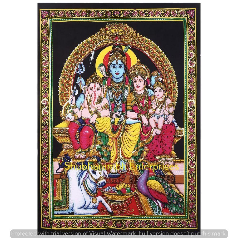 Hindu Indian God Poster Bohemian Wall Hanging Sequin Work Mandala Tapestry Decor Unbranded Artdeco Tapestry Mandala Wall Hanging Sequin Wall