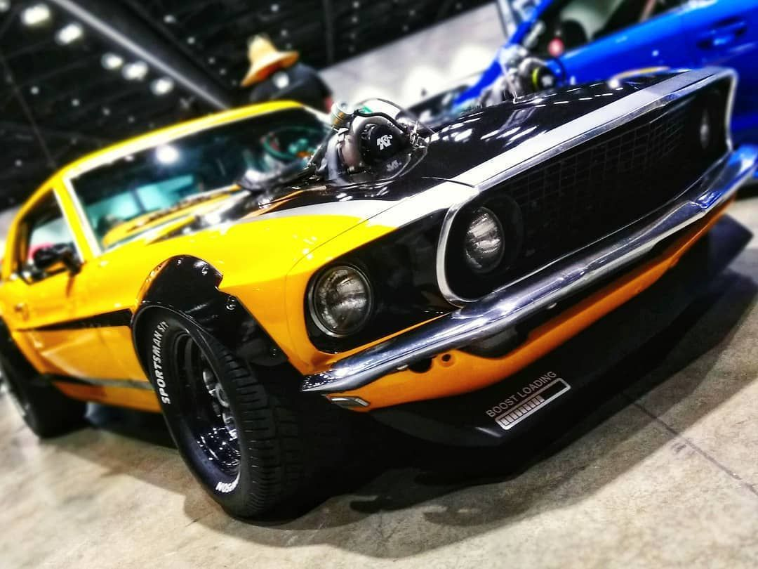 Wekfest Sj 2018 This Awesome Ford Mustang Had Twin Turbos Sticking Out The Hood Like It Just Came Out Stra Ford Classic Cars Hot Rods Cars Muscle Classic Cars