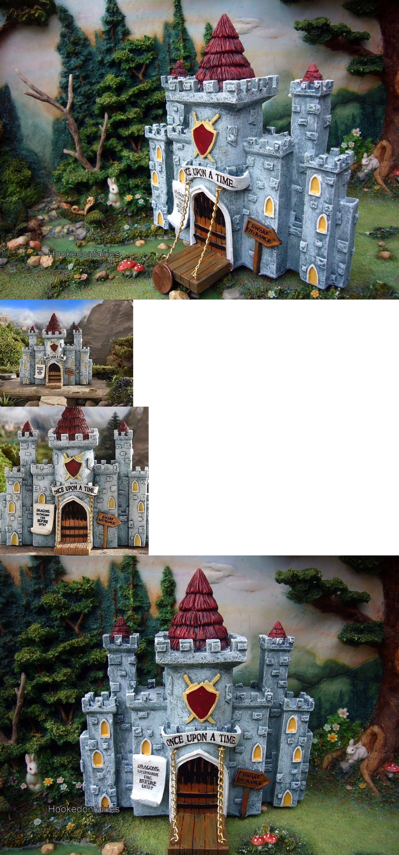 Fairy lawn ornaments - Statues And Lawn Ornaments 29511 Medieval Times Castle W Drawbridge Gi 700297 Miniature Fairy Garden