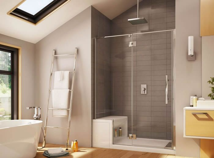 Small shower stall with seat | Bathroom | Pinterest | Small shower ...
