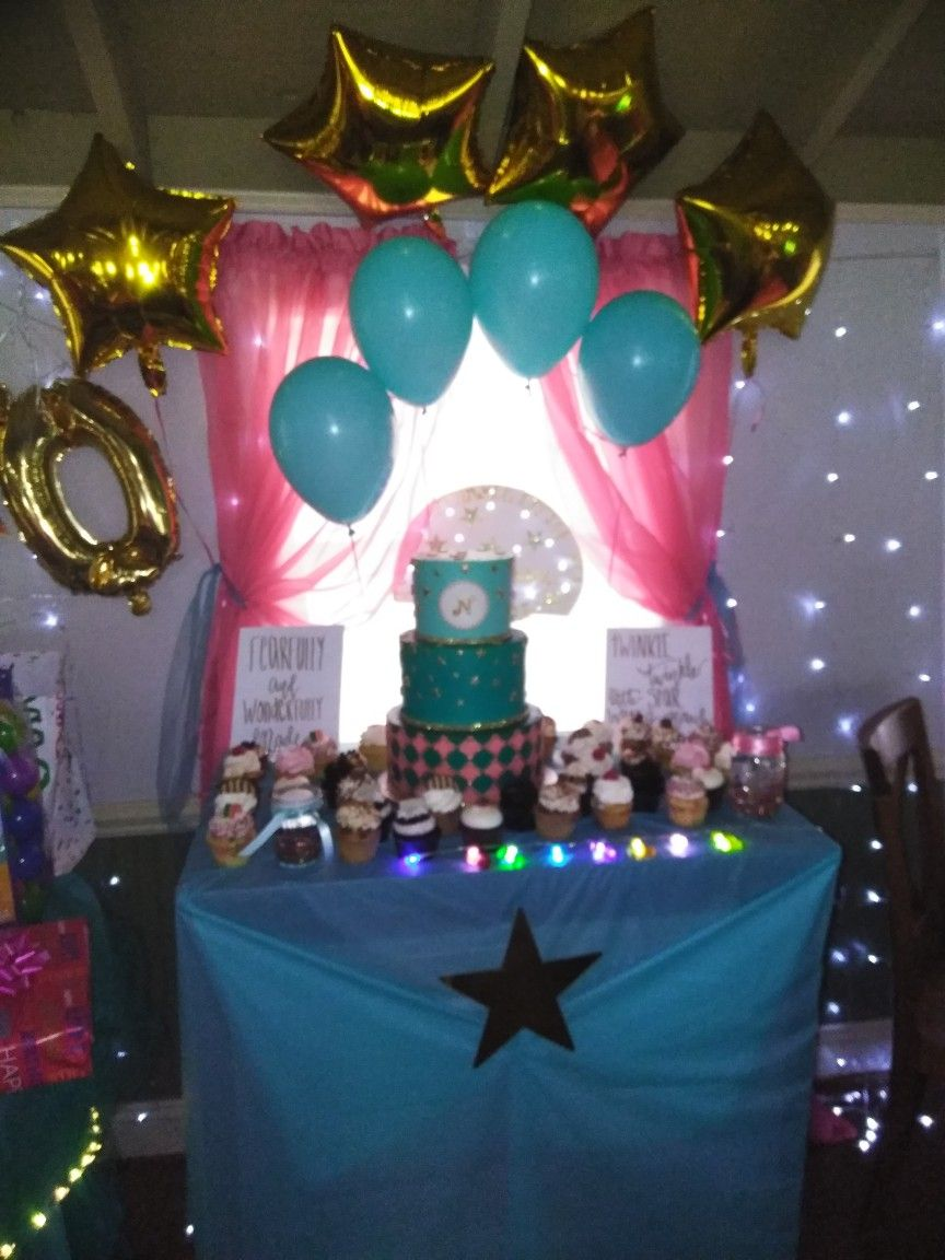 Pin By Jeanette Eubanks On Natalie S 10th Birthday 10th Birthday Table Decorations Birthday