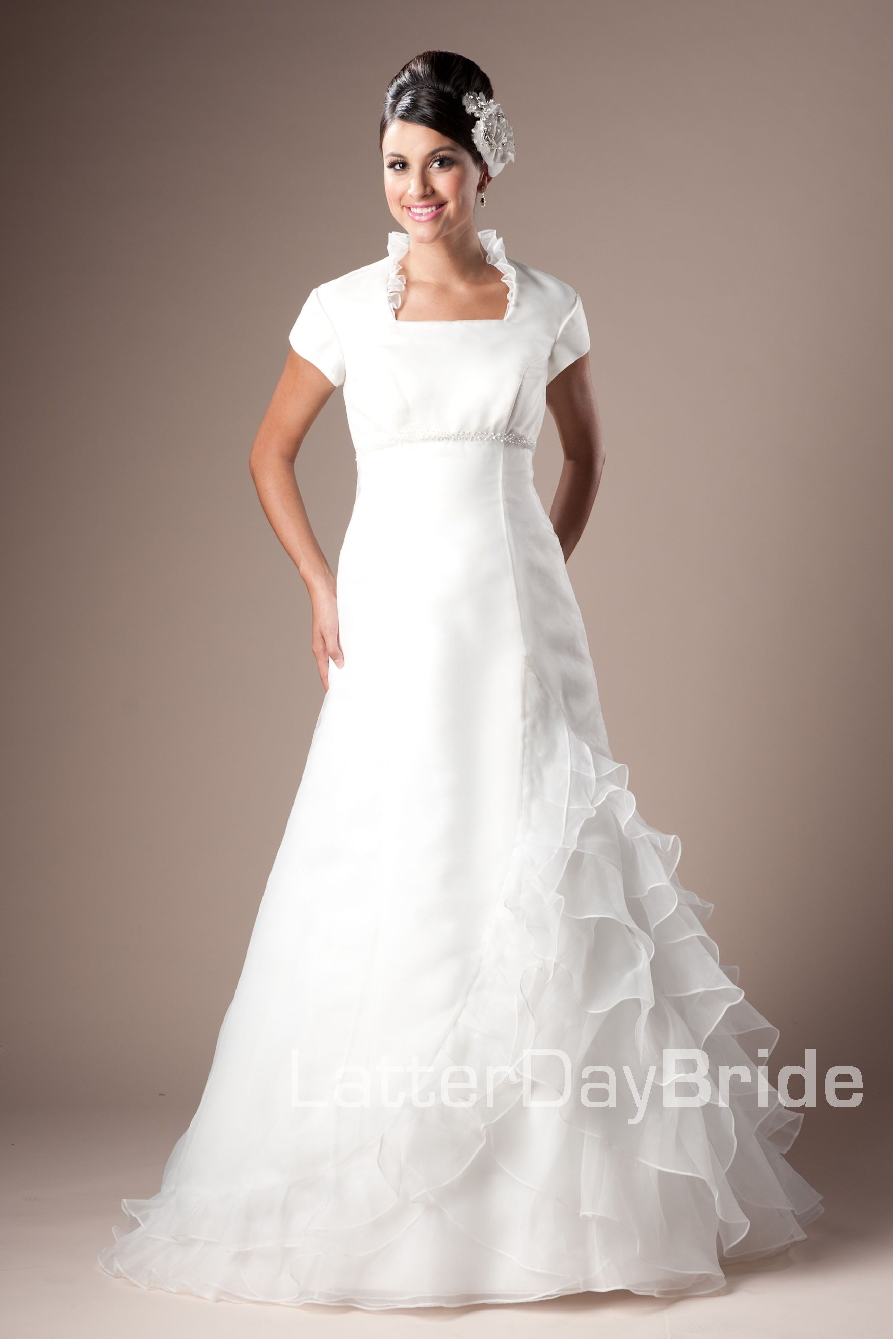 Wedding dress with collar  Modest Wedding Dress Callidora LatterDayBride Love the collar