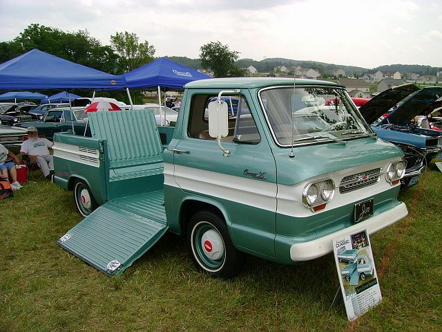 1964 Chevy Corvair Rampside Perfect For A Drive In Movie Theater Chevy Corvair Classic Cars Chevy Customised Trucks