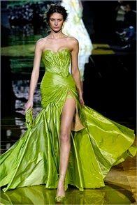 11833d00adc Robe haute couture elie saab verte