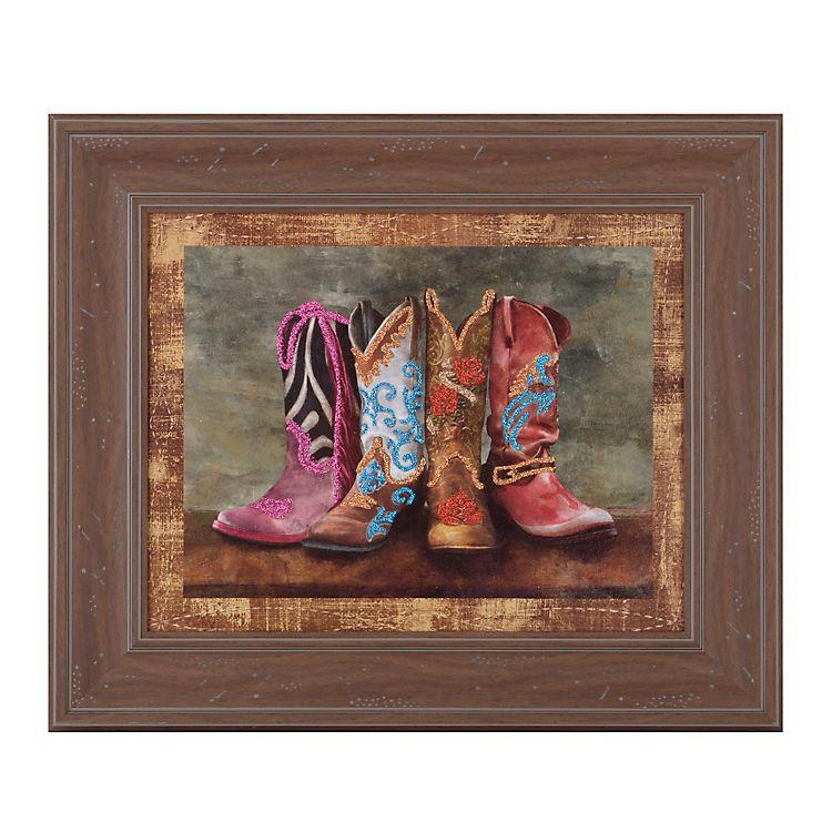 Cowboy Boots II Framed Art Print | Pinterest | Cowboy boots, Cowboys ...