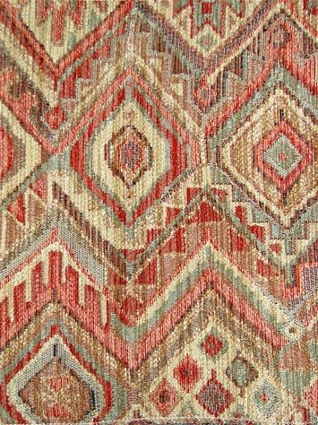 M10220 Sunset   Kilim Style Chenille Tapestry Fabric From Barrow Fabrics.  Perfect For Upholstery Fabric