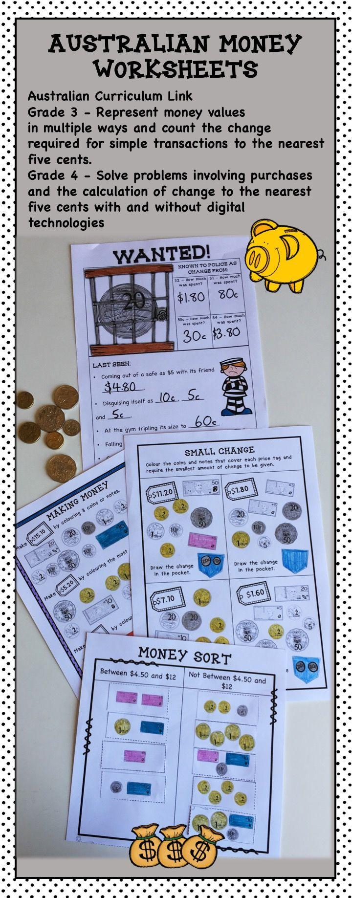 australian money worksheets higher order thinking hots grade 3 and 4 1st grade math. Black Bedroom Furniture Sets. Home Design Ideas