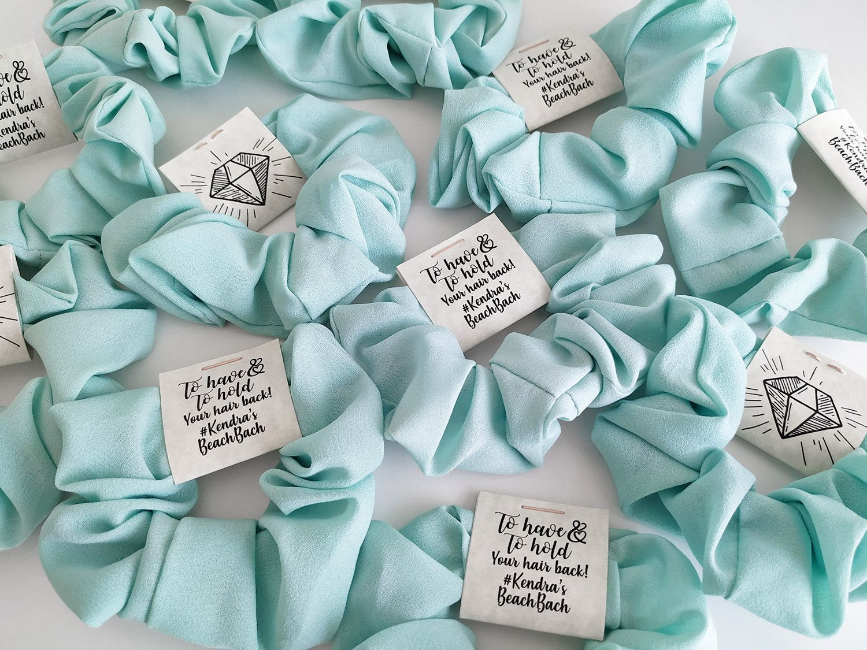 Tiffany Blue Scrunchies Bachelorette Decorations Wedding Gift Favors Wine Wedding Favors