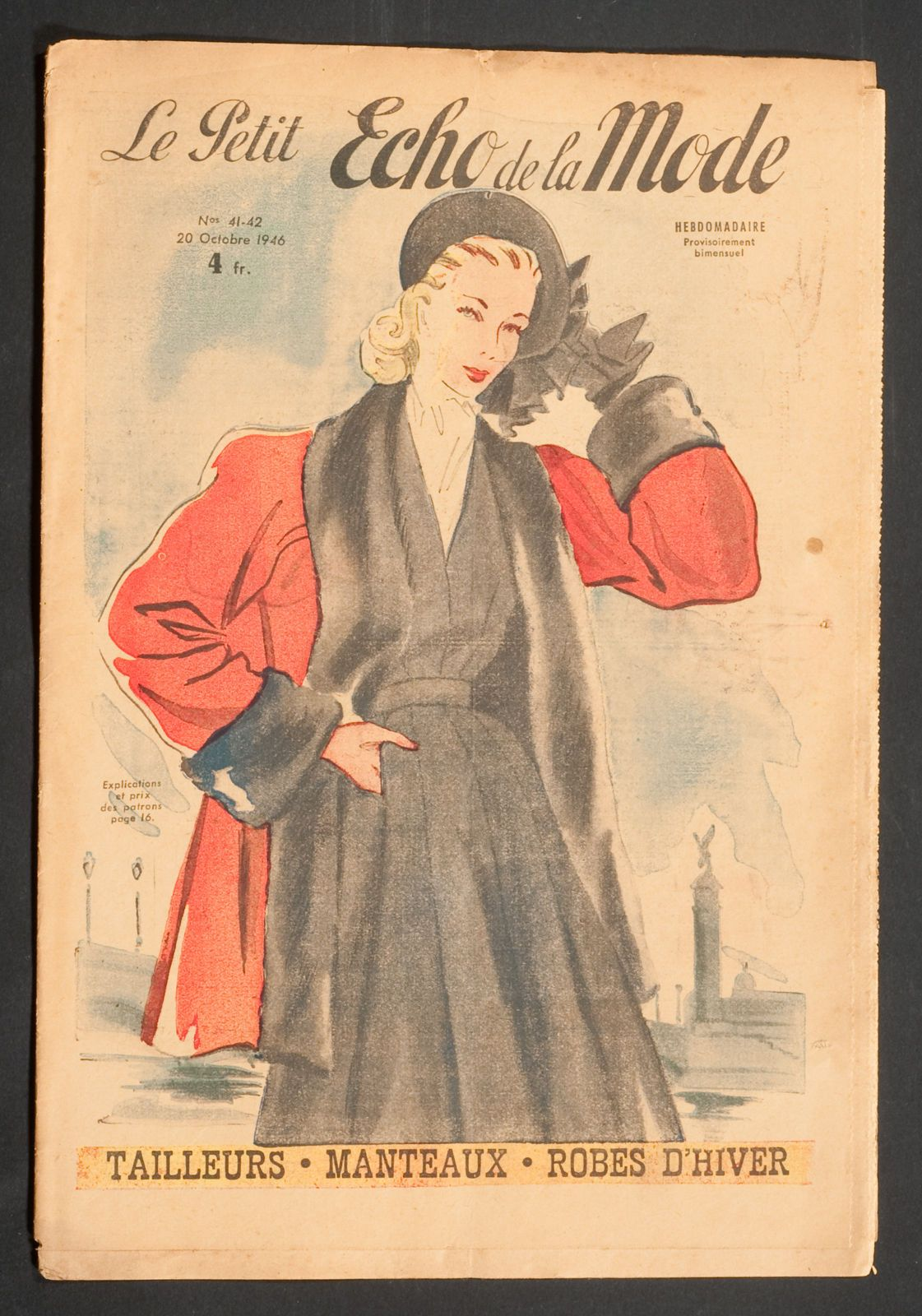 'ECHO DE LA MODE' FRENCH VINTAGE NEWSPAPER 20 OCTOBER 1946 | eBay