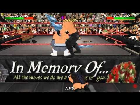 Wrestling Revolution 3D : John Cena vs  Big Show & Seth Rollins