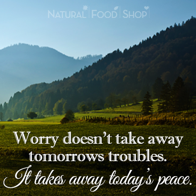 """Worry doesn't take away tomorrow's troubles..."" #quotes #peaceful"