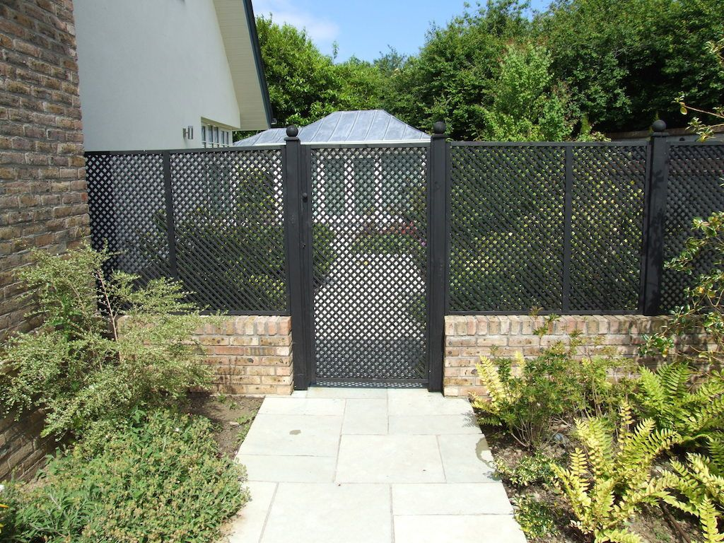 See Through Fence Windbreak Garden Design Ideas Photo