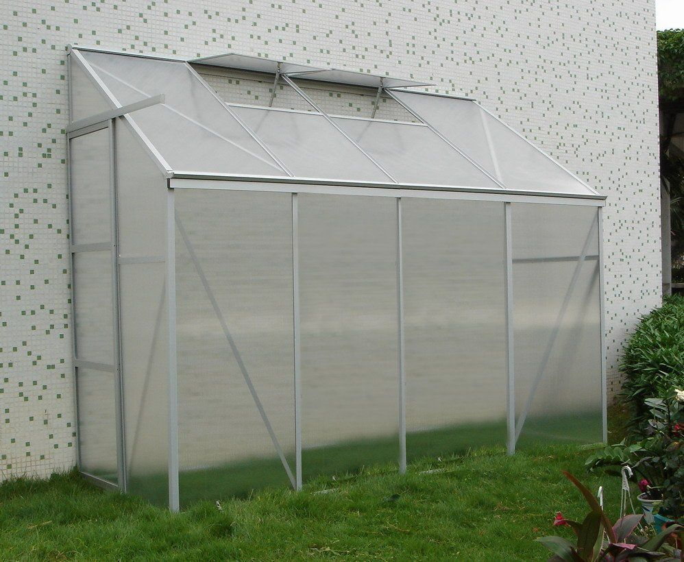 china cheap small twin wall lean to greenhouse polycarbonate rh pinterest com