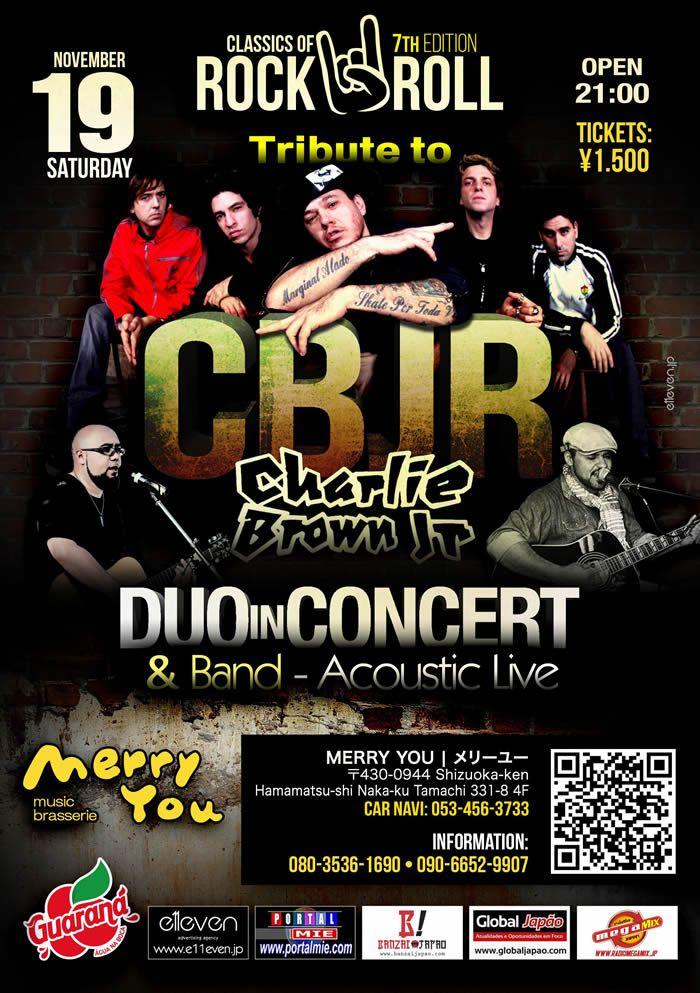 Balada com show ao vivo de Duo in Concert Band tocando os melhores sucessos de Charlie Brown Jr. Não perca!!!