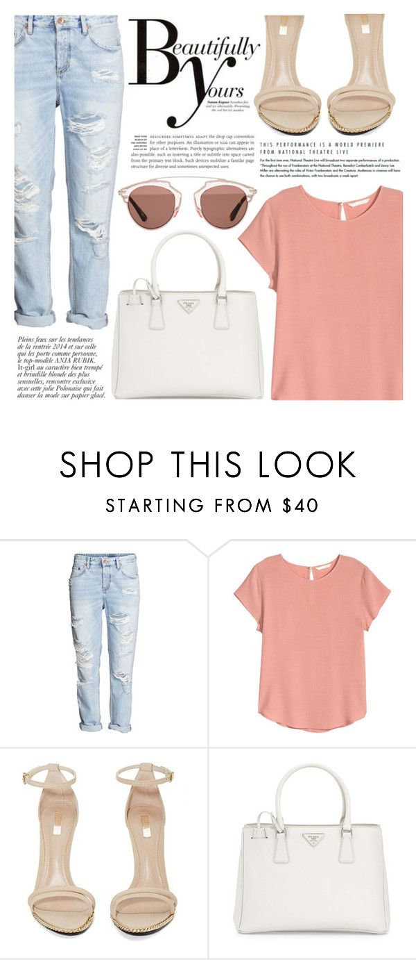 """""""❁"""" by brenndha ❤ liked on Polyvore featuring H&M, Jeffrey Campbell, Prada, Anja, Sonam Life, Christian Dior, GetTheLook, StreetStyle, DayToNight and gorgeous"""