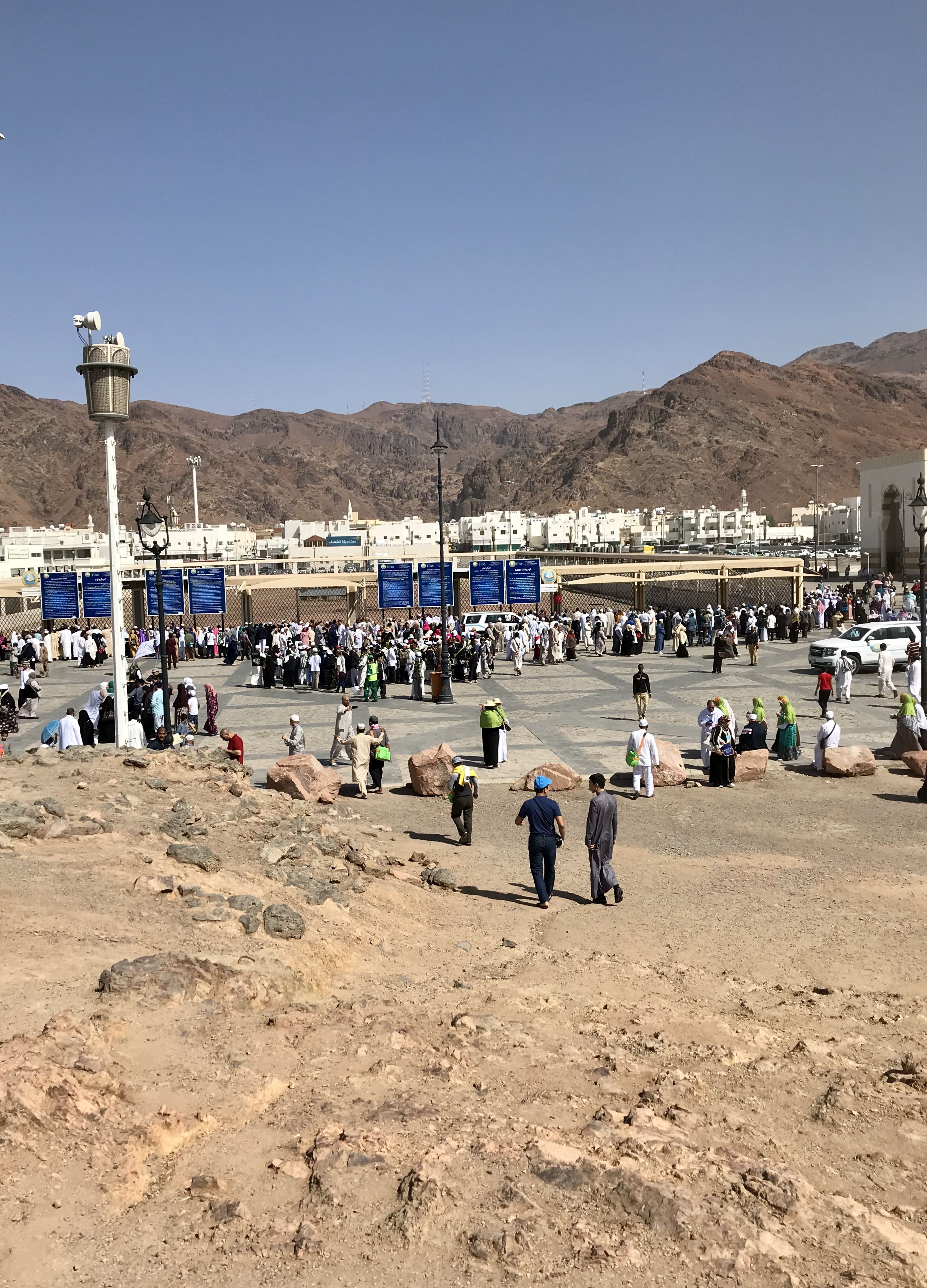 Makam Syuhada Uhud The Martyrs Of Uhud Cemetery مقبرة شهداء أحد Contains The Bodies Of 70 Shuhada Martyrs Who Were Killed During The Mekah Fotografi Makam