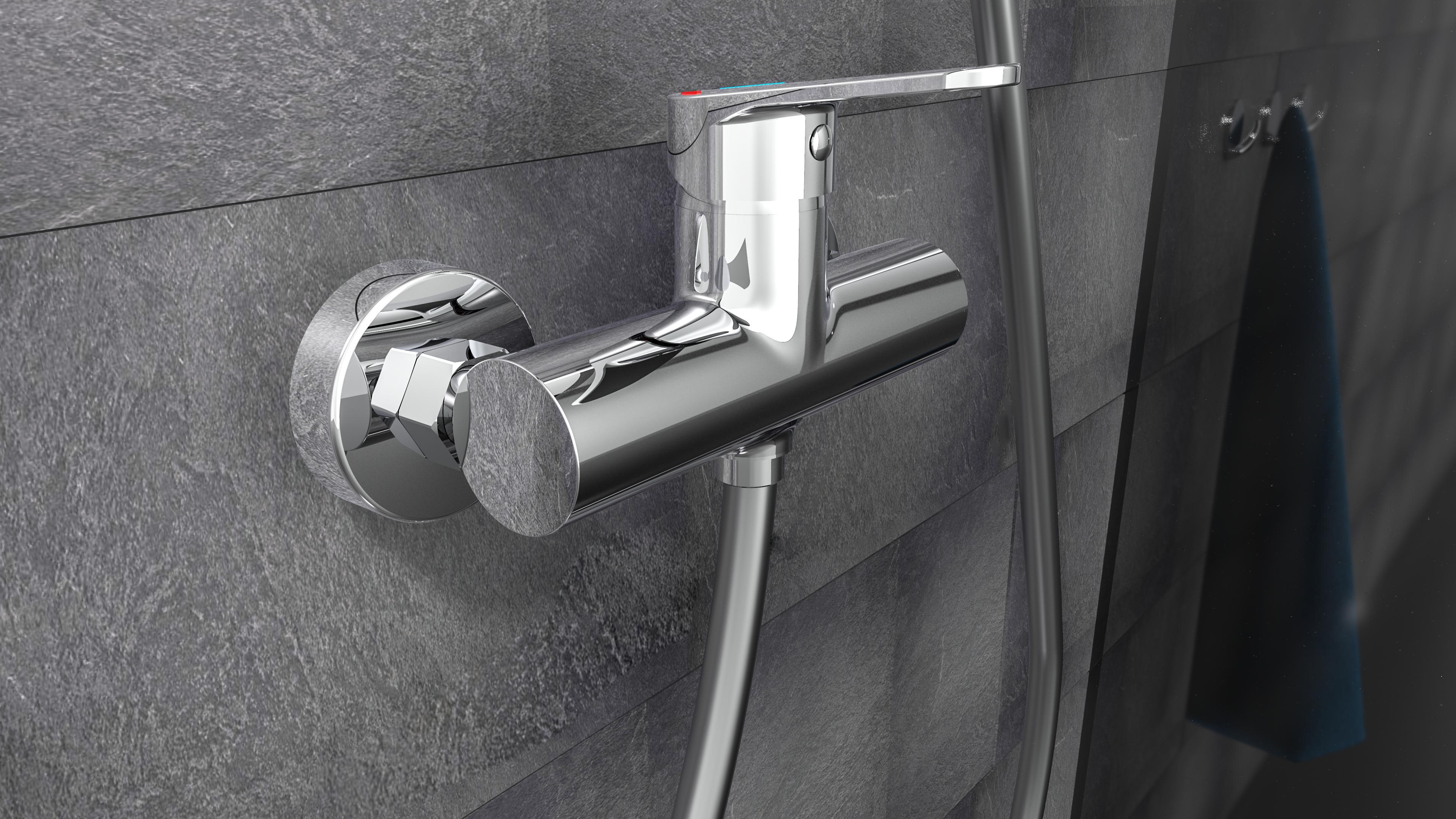 Duscharmatur Futura Badarmatur Wasserhahn Fur Dusche Chrom In 2020 Badarmaturen Duscharmatur Armaturen Bad